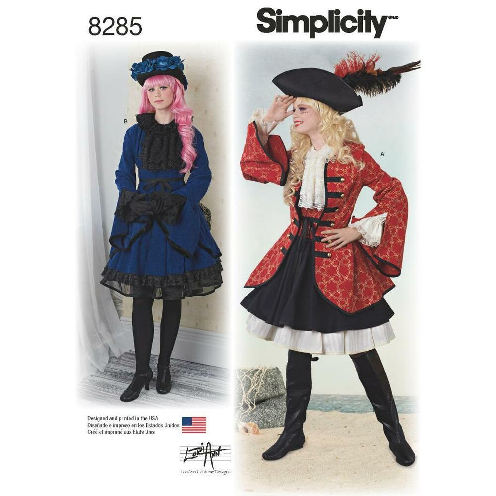 Simplicity Sewing Muster Misses\' Pirate Girl Steampunk Rollenspiel ...