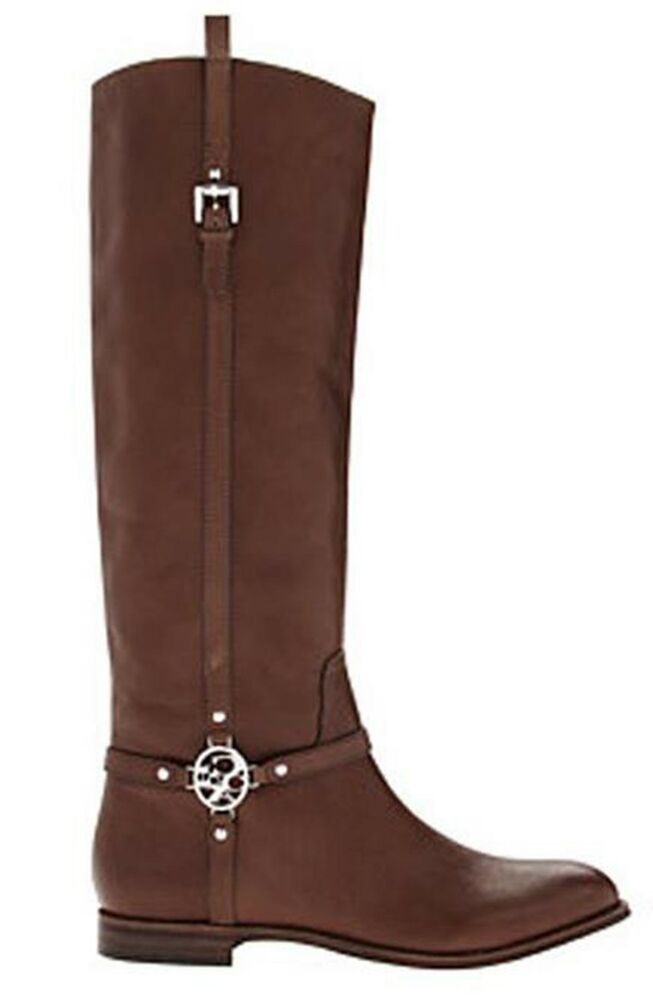 217dc8f53e5 Details about Coach Mulan Women s Leather Knee-High Riding Boots Size US  5.5 M Chestnut