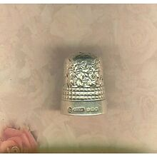NICE Pretty Sterling Thimble by Charles Saunders & Francis Shepherd US Size 8