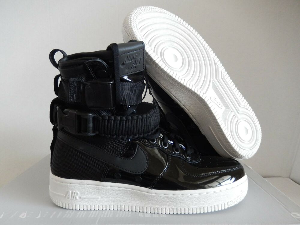 WMNS AIR FORCE 1 SF AF1 SE PREMIUM SPECIAL FIELD BLACK SZ 6.5 [AJ0963-001]