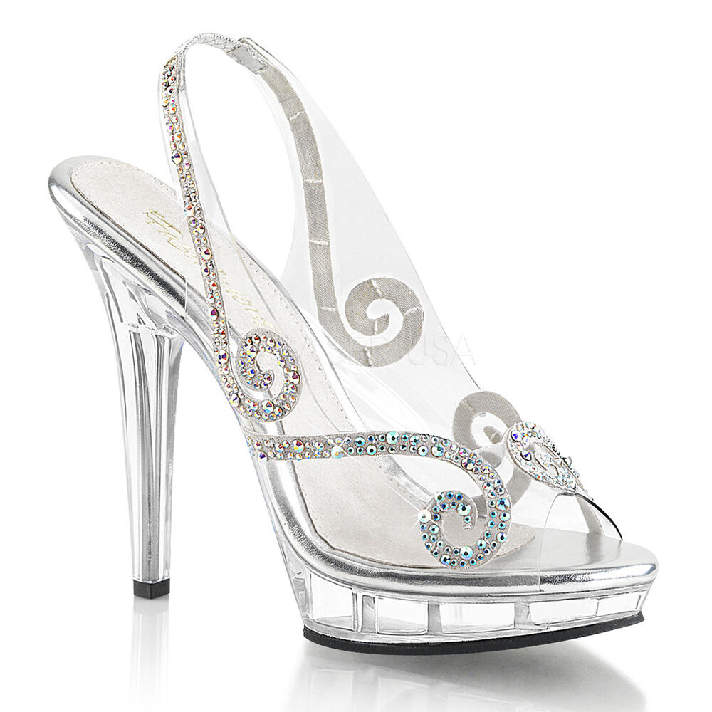 aab9ad7d41c Details about Clear Cinderella Glass Slippers Disney Princess Theme Wedding  Shoes Heels Womans