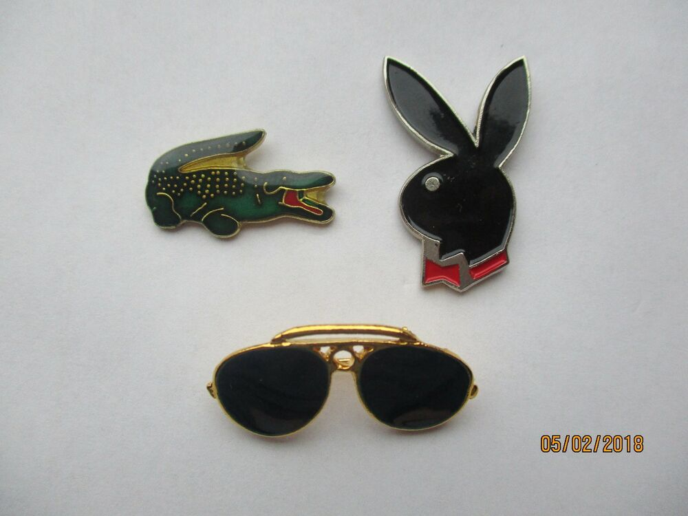 Details about VINTAGE LACOSTE POLO RAY-BAN SUNGLASSES PLAYBOY BUNNY  DESIGNER PIN BADGE JOB LOT 4737b22dbf