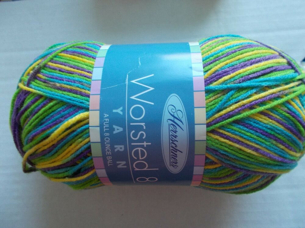 1 large skein Crushed Berries 489 yds Herrschners Worsted 8 variegated yarn