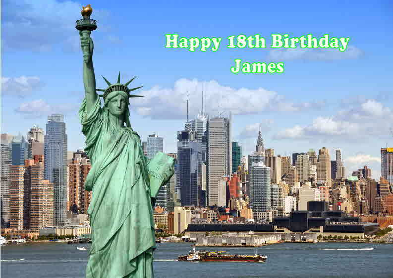 Details About Personalised New York Birthday Card