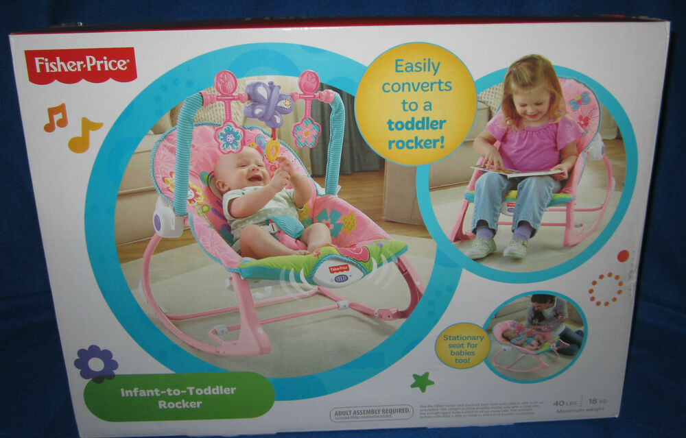 Fisher Price Infant To Toddler Rocker Pink With Butterflies