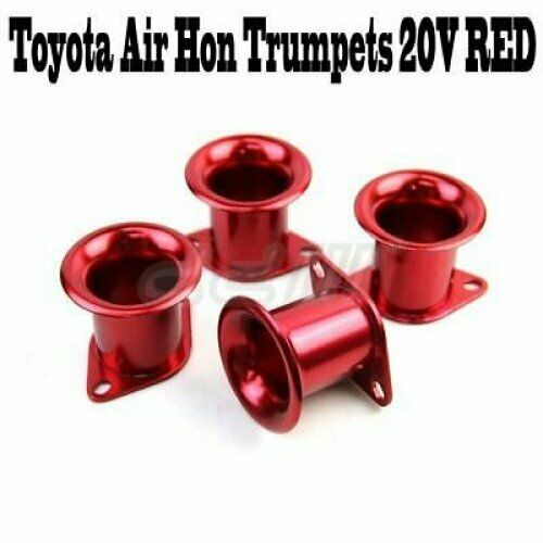 NEW 4 Pcs RED Air Intake Manifold Trumpet Throttle For