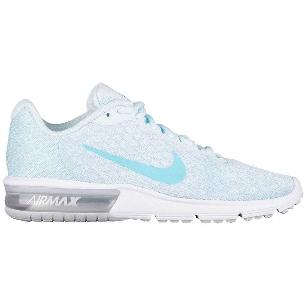 ff378c456d218 Details about Nike Air Max Sequent 2 Womens 852465-014 Glacier Blue Running  Shoes Size 9