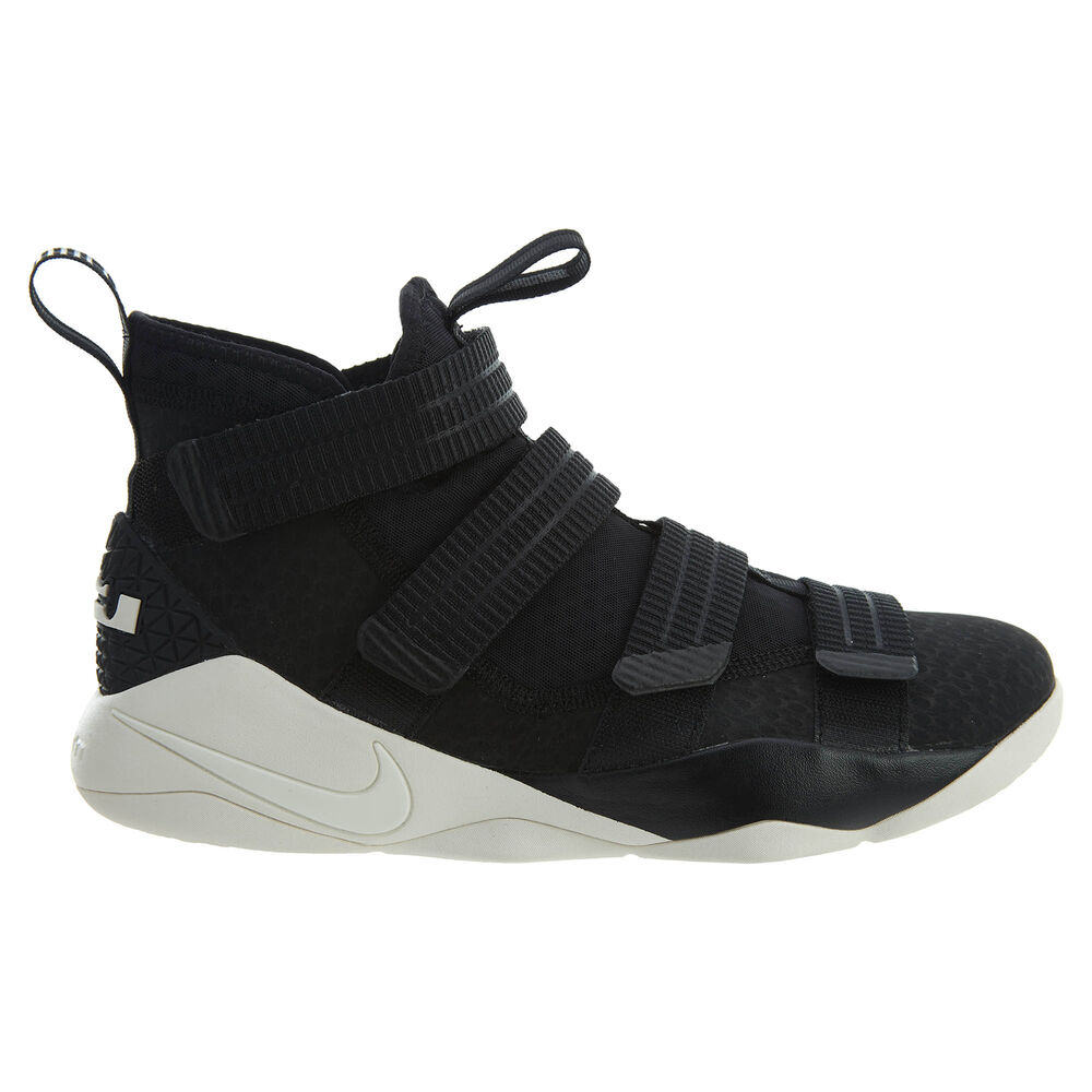 46df69ce394 Details about Nike Lebron Soldier XI SFG Mens 897646-004 Black Sail Basketball  Shoes Size 10.5
