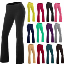 USPS Women's Power Flex  Yoga Pants Tummy Control Workout Running Boot Leg M600