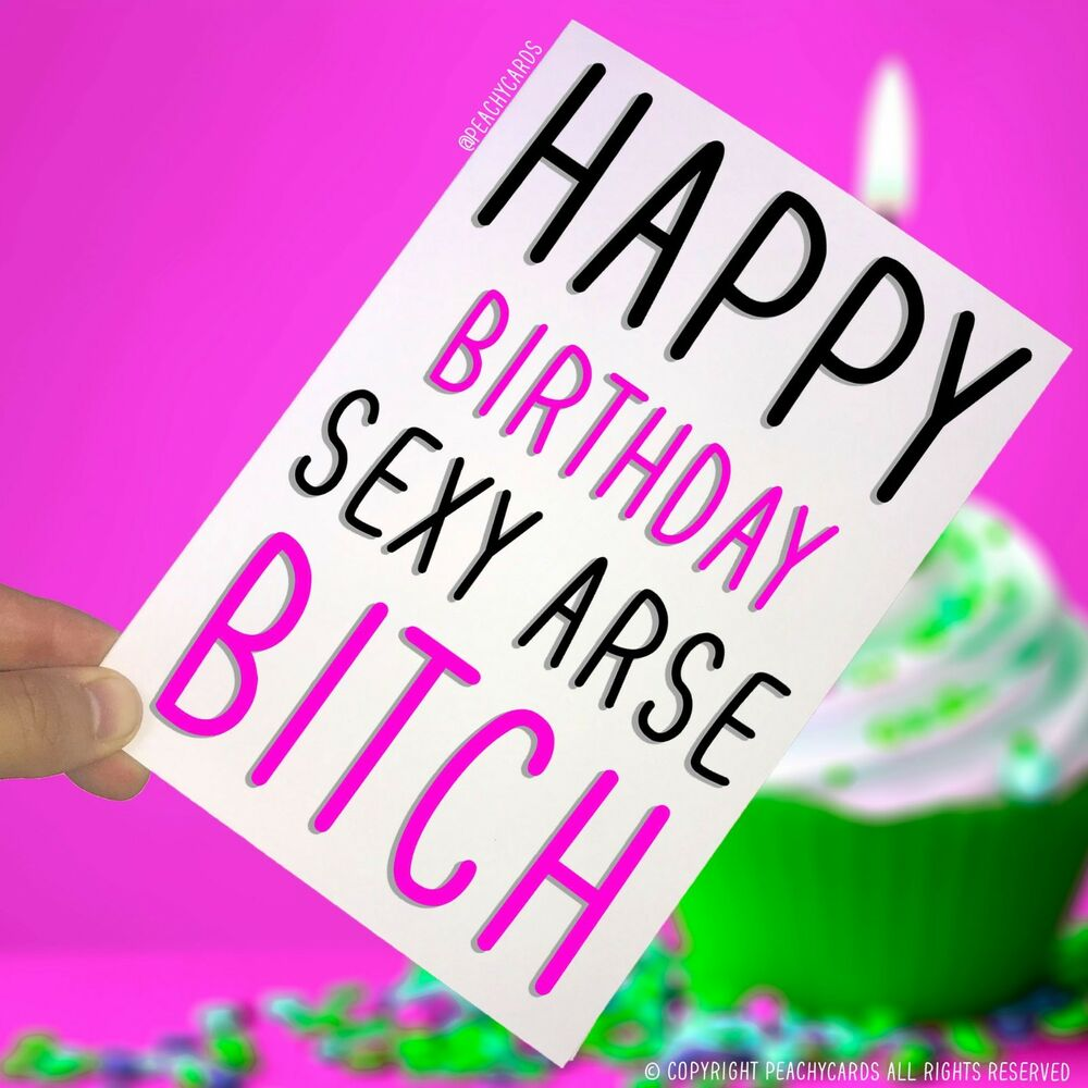 Karten Schreibwaren Happy Birthday Greeting Cards Bitch Tts Novelty Funny Best Friend Humour