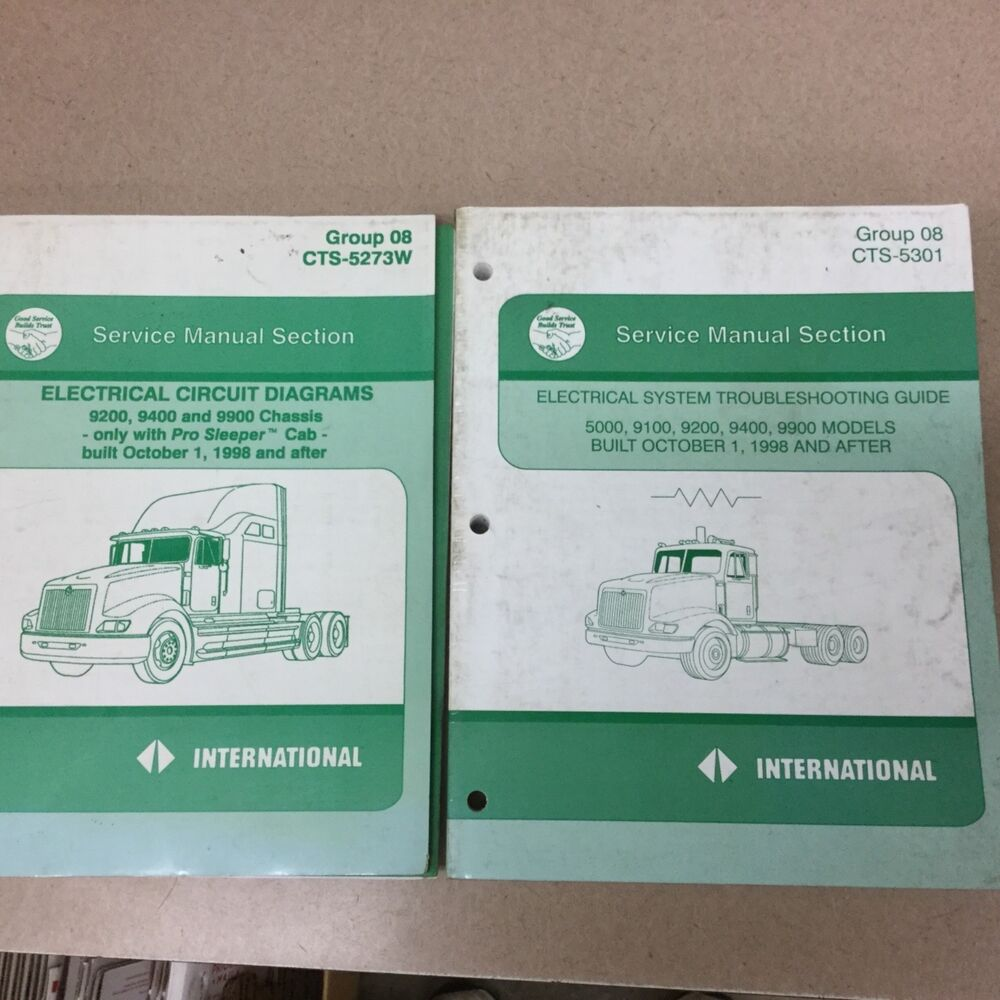 International IH 5000 9200 9400 9900 ELECTRICAL DIAGRAMS TROUBLESHOOTING  MANUALS | eBay