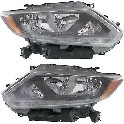 Headlight Set For 2014 2015 2016 Nissan Rogue Left and Right With Bulb CAPA 2Pc