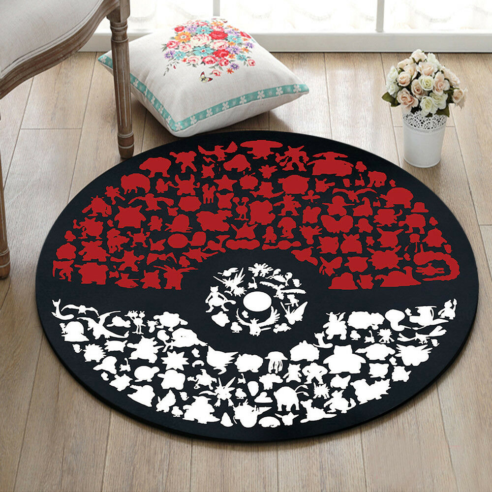 Pokemon Home Decor Rugs Yoga Area Rug Bedroom Carpet Kids