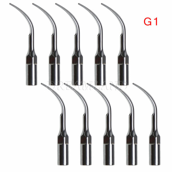 10X Dentista Tips INSERTI PUNTE PER ABLATORE Scaler EMS Woodpecker G1 ITFF
