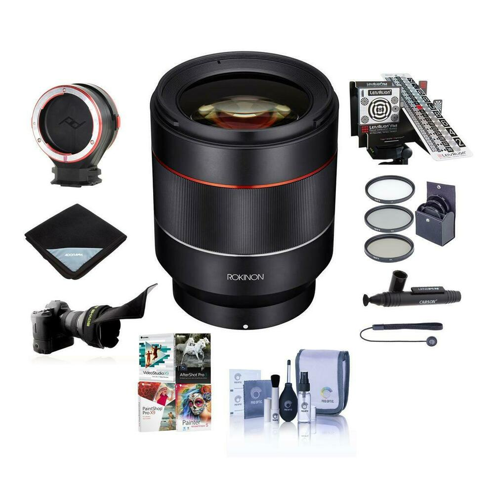 Rokinon Auto Focus 50mm F 14 16 Fe Lens For Sony E Mount W Premium Peak Design Kit Acc Bundle Ebay