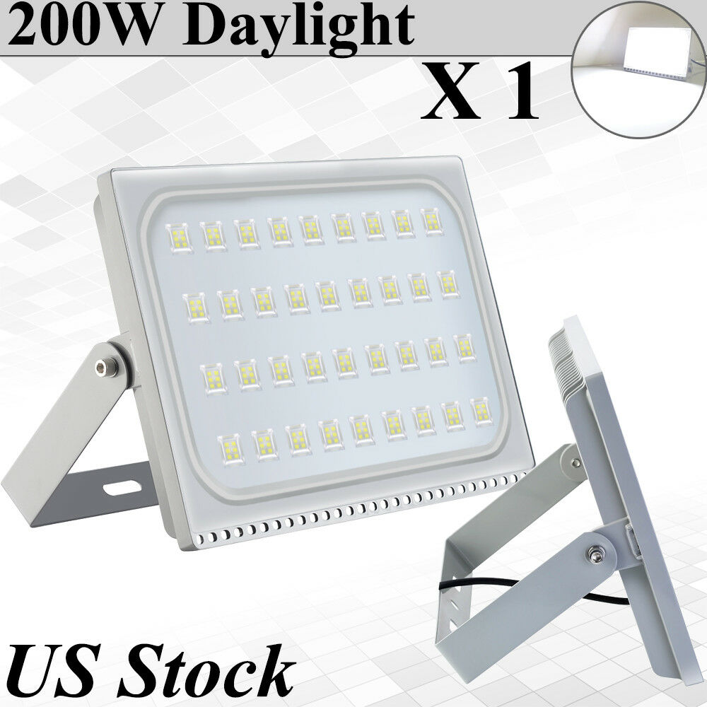 Details About Viugreum 200w Ultra Thin Led Flood Lights Daylight Outdoor Security Street Lamp