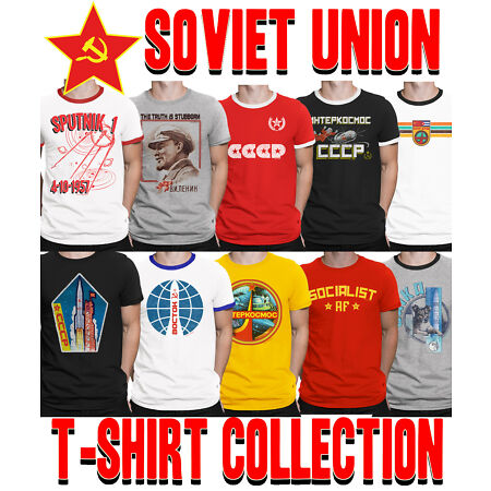 img-Mens SOVIET UNION T-Shirt Choice of SPACE Program Communism CCCP USSR Socialism