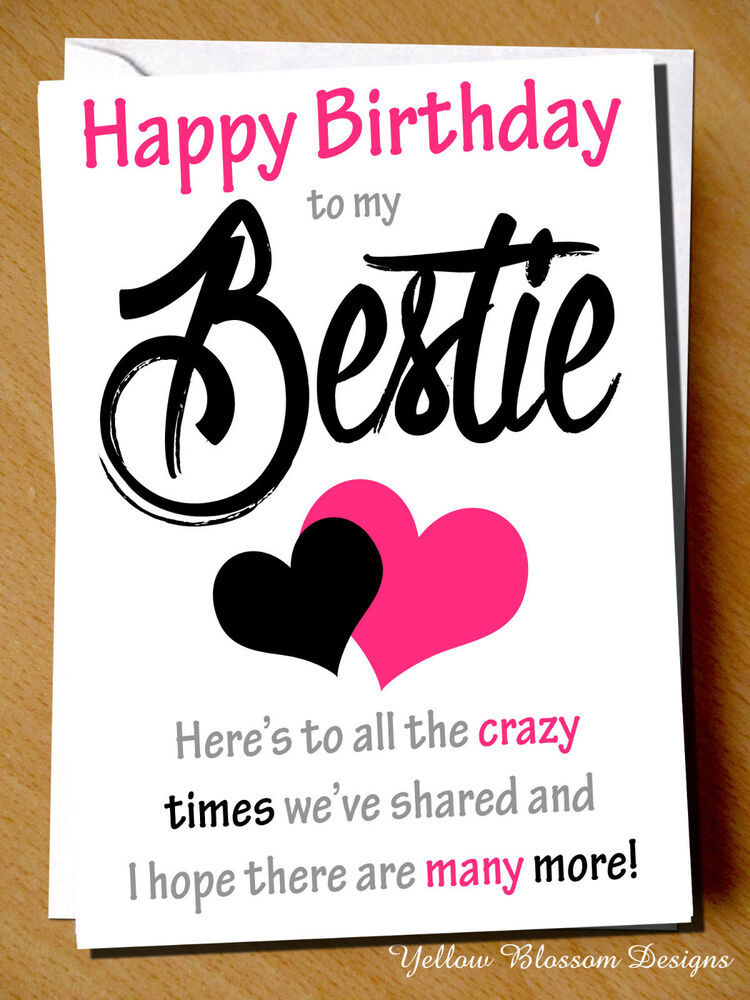 Funny Cheeky Happy Birthday Card Best Friend Bestie