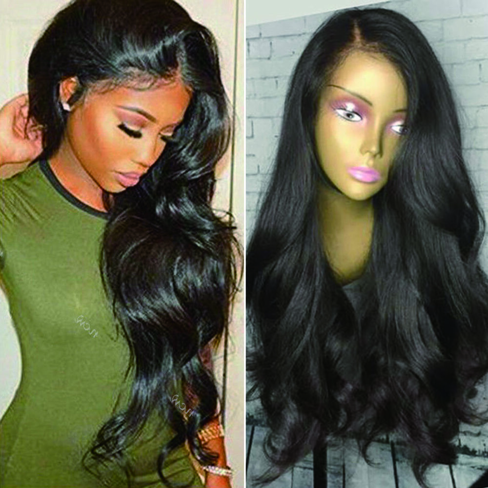 Human Hair Wig Body Wave Black Malaysian Lace Front Wig
