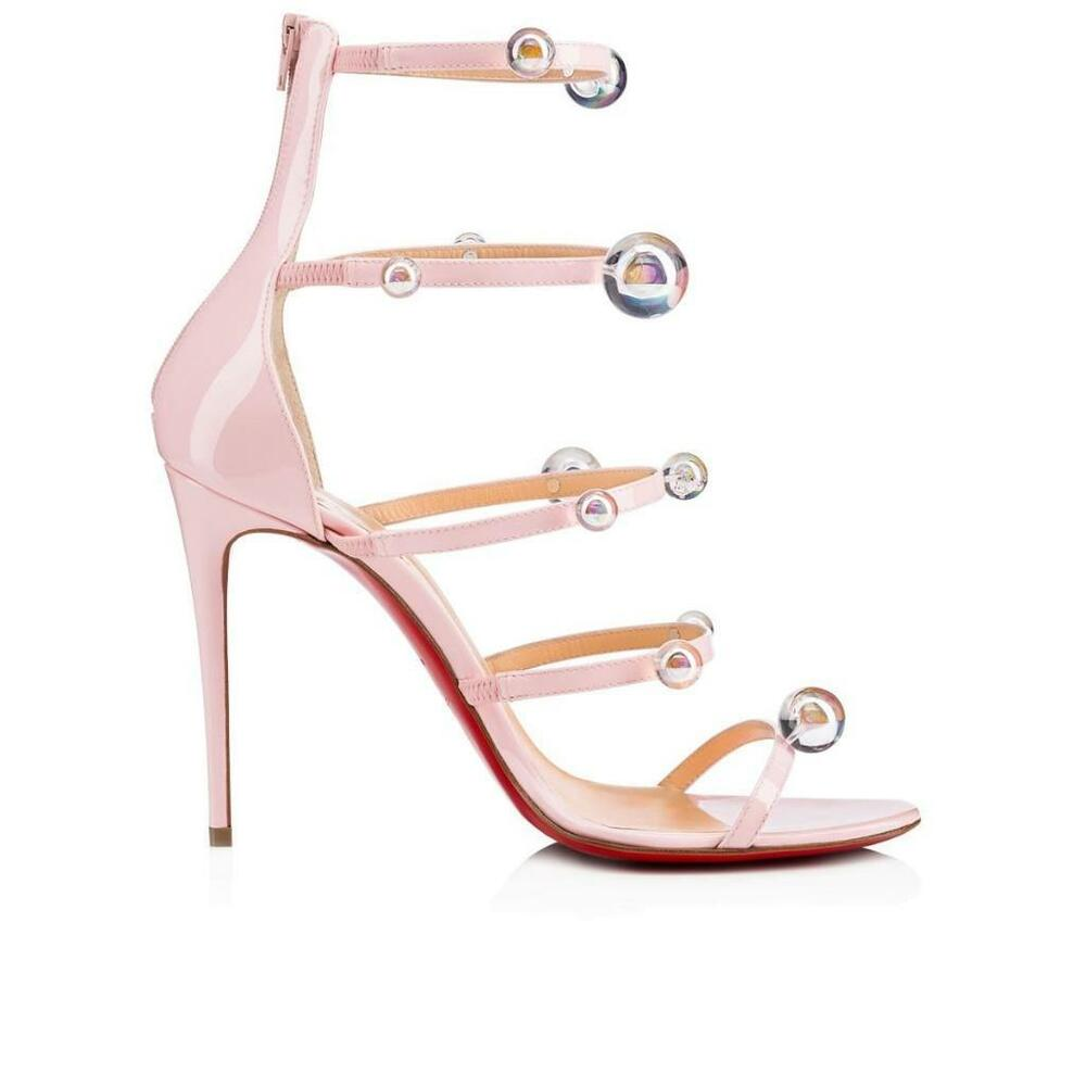 2692fd17ace Details about christian louboutin atonana ball studded strappy heels sandals  shoes jpg 1000x1000 Caged christian louboutin