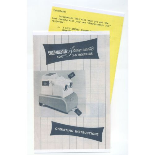 copy-instruction-manual-and-insert-for-stereomatic-500-viewmaster-3d-projector