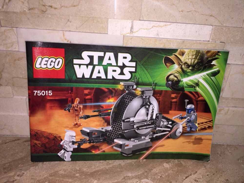 Lego Star Wars Corporate Alliance Tank Droid Building Manual Only