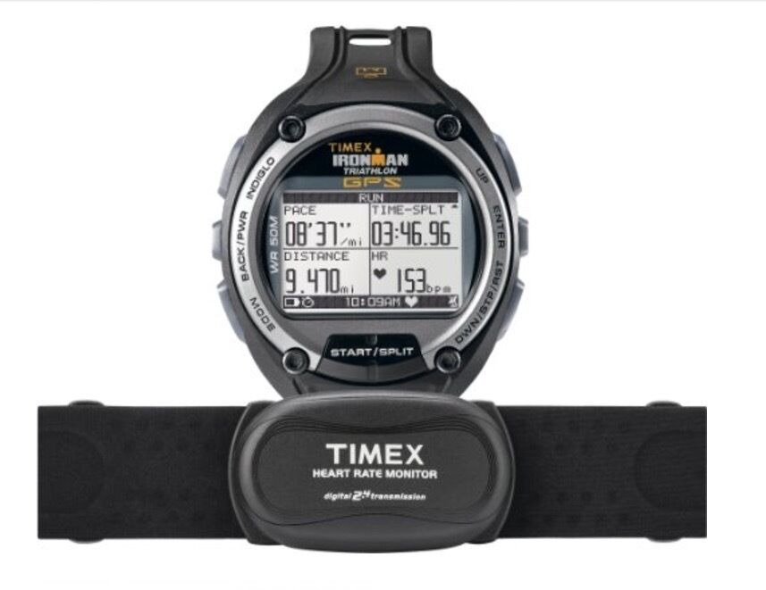 df71637982aa TIMEX Ironman Global Trainer GPS Speed Distance Heart Rate Monitor Running  Watch 753048354443