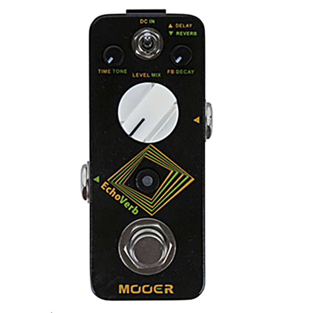 mooer echoverb digital delay and reverb micro guitar effects pedal ebay. Black Bedroom Furniture Sets. Home Design Ideas