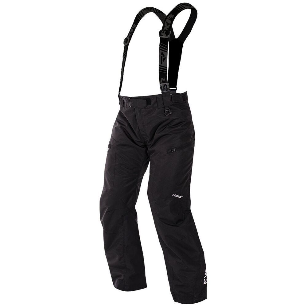 728f73a11c628 Details about FXR™ Squadron Insulated Black Men's Snowmobile Pants/Bibs,  170101-1000-XX