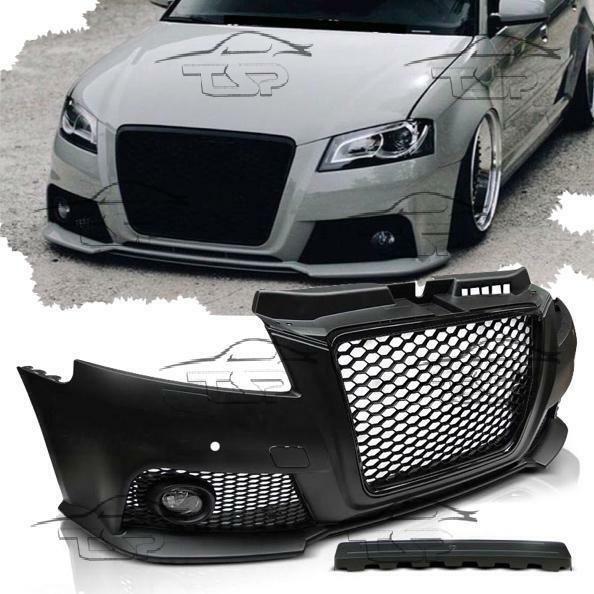 FRONT BUMPER FOR AUDI A3 8P 08-12 PDC BODY KIT RS3 LOOK