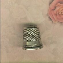 Sterling Thimble with Recessed Top