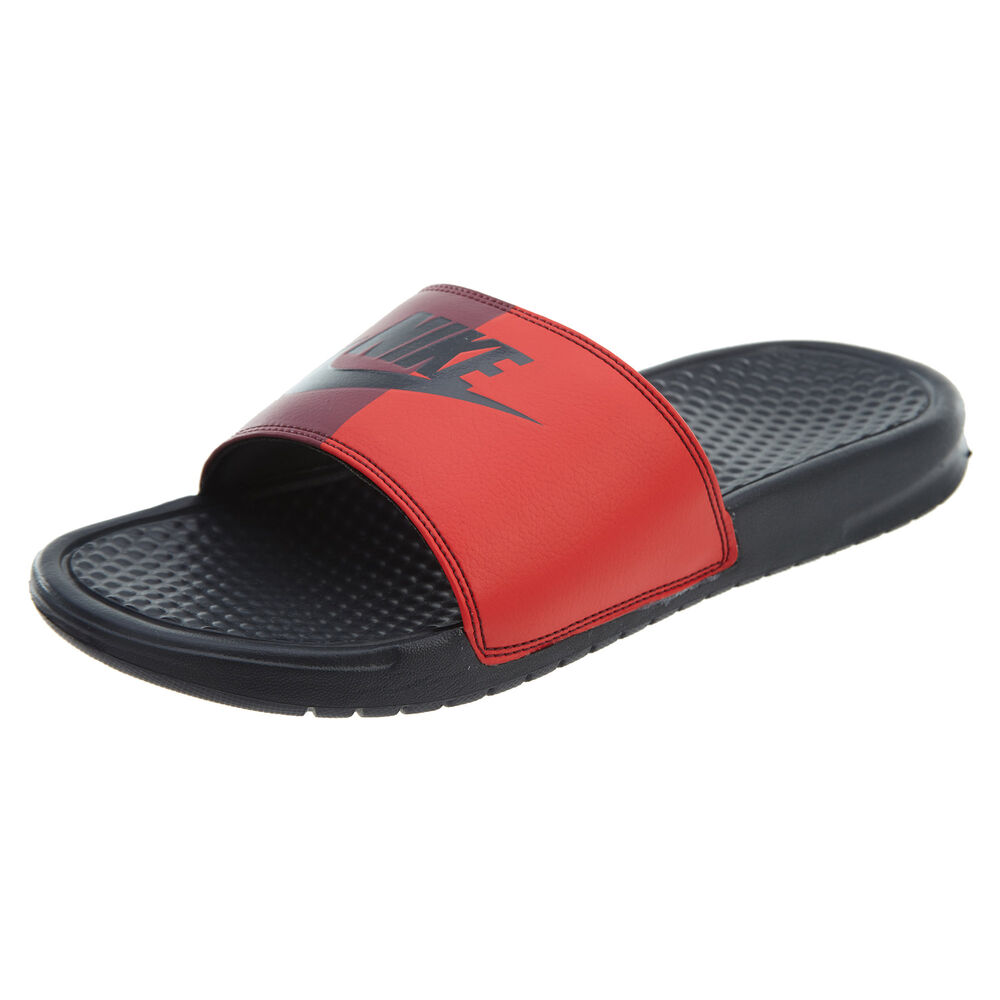 abb00096d Details about Nike Benassi JDI Mens 343880-008 Red Anthracite Logo Slide  Sandals Size 8
