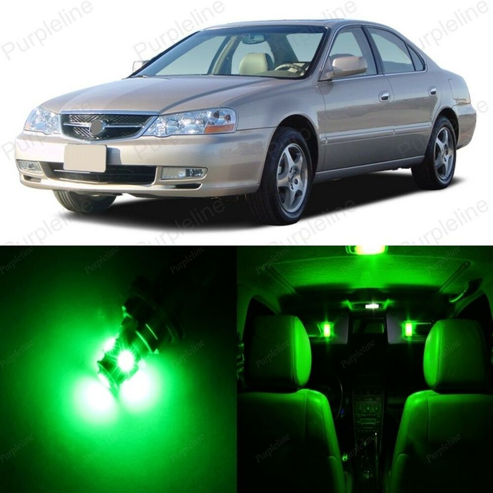 10 X Green LED Interior Lights Package For 1999