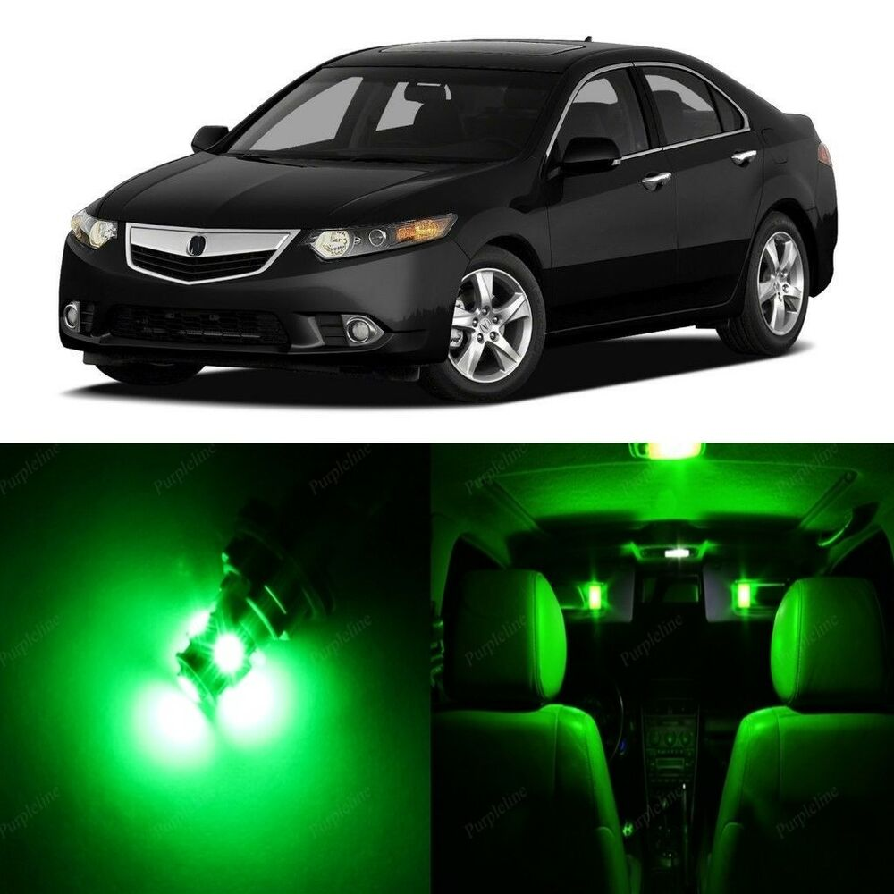16 X Green LED Interior Lights Package For 2009