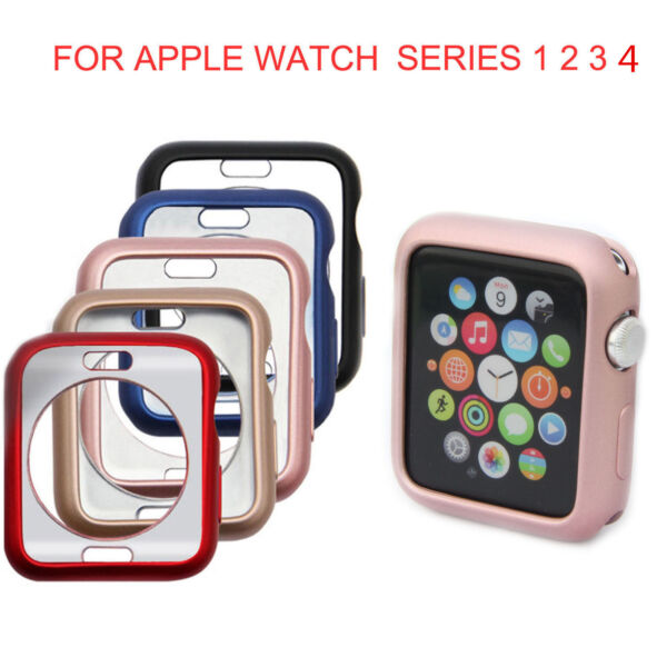 iWatch Case Protector Cover for Apple Watch Series 4/3/2/1 TPU Bumper 38/42/44MM