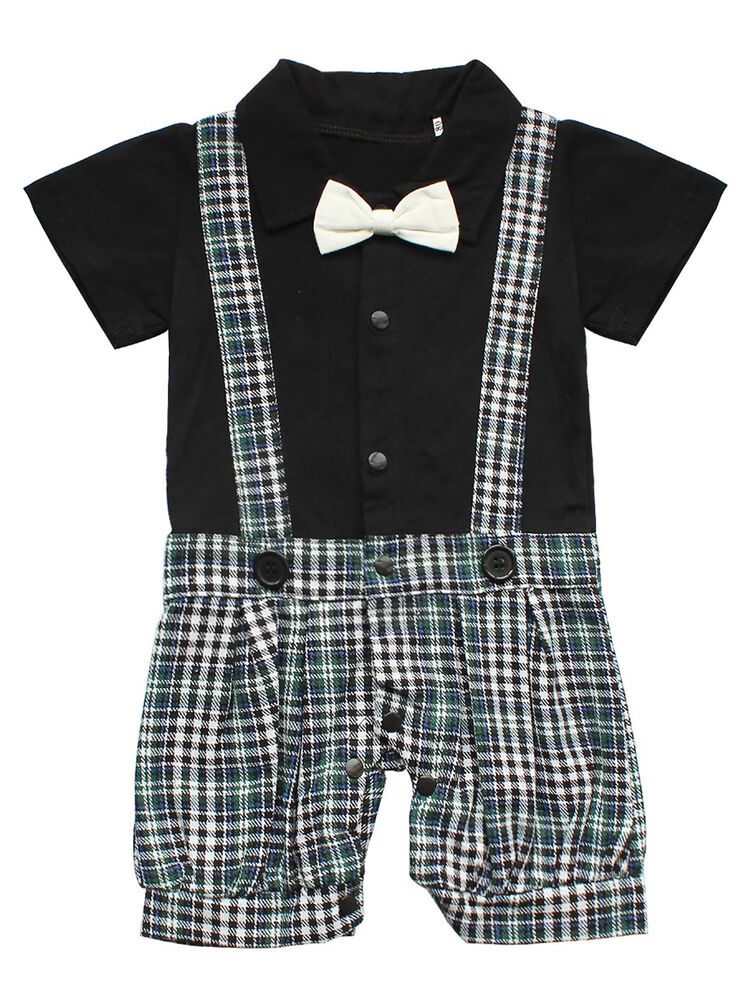 848138f93 Details about Toddler Baby Boy Girl Shirt Romper+Bib Pants Short Overalls  Outfit Party Clothes