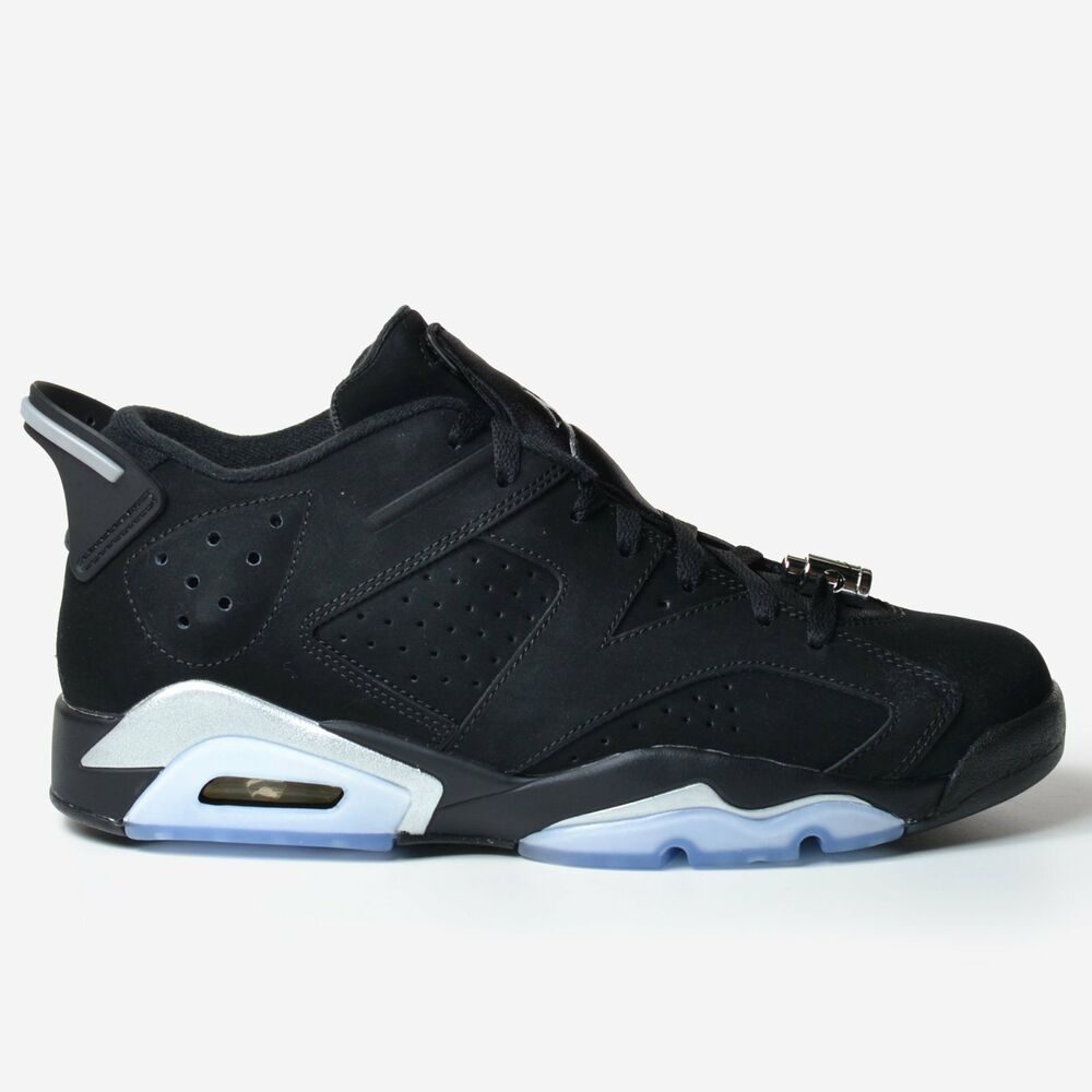 buy popular 471f5 9c8c3 Details about Air Jordan 6 Retro Low Black Chrome 2015 Silver White VI DS  304401-003