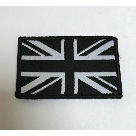 img-Union Jack Black & White Badge TRF, Military, Army, Sleeve, Arm, Patch, Hook