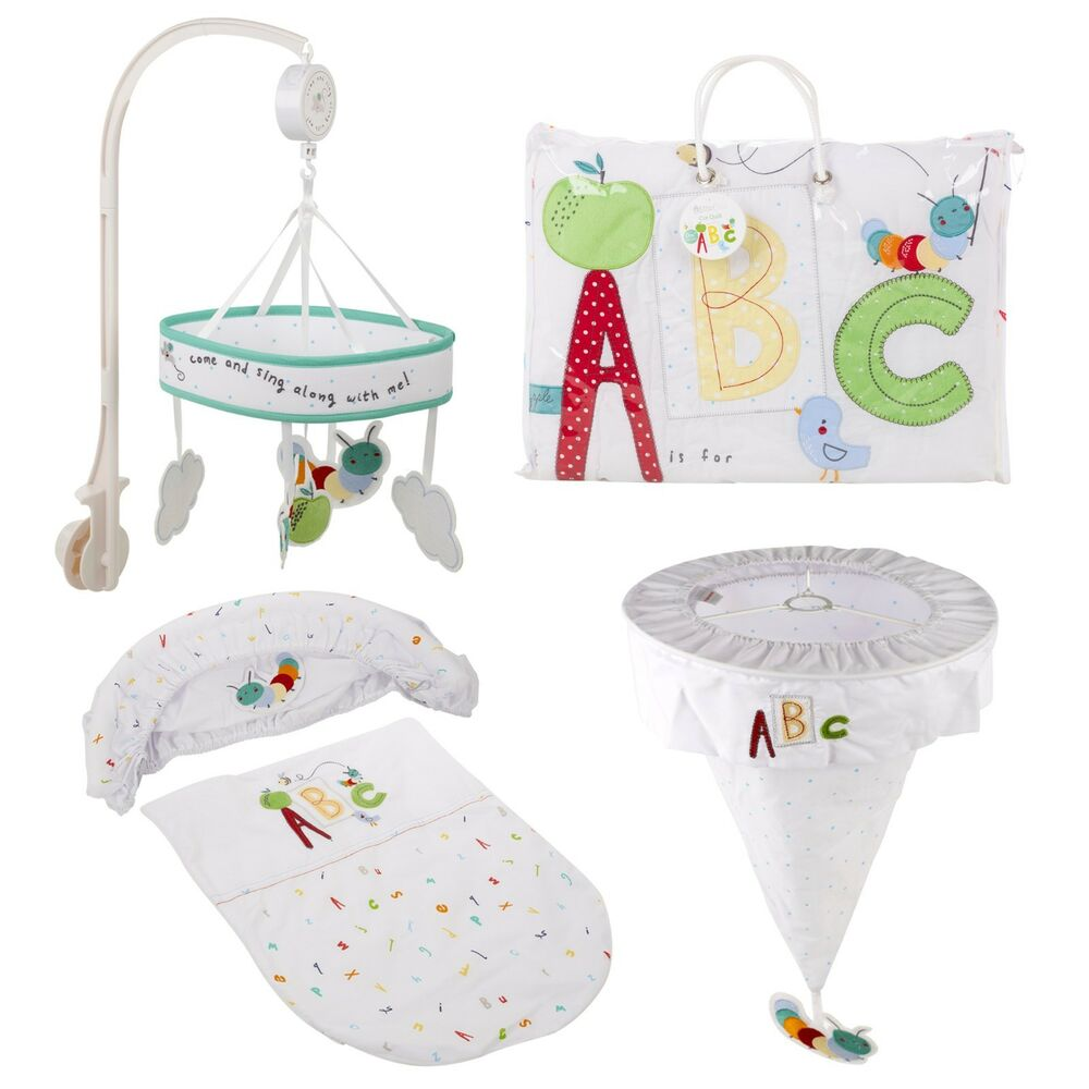Toys R Us Unisex New Baby Nursery Cot Moses Basket Bedding ...