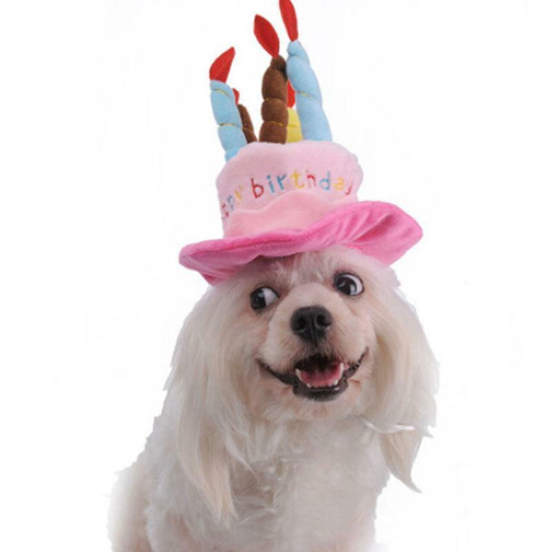 Details About Cute Pet Birthday Hat Adorable Dog Headwear For Puppy Cat Dogs Decor Gift Q
