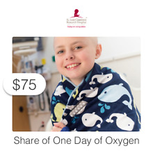 $75 Charitable Donation For: Share of one day of oxygen
