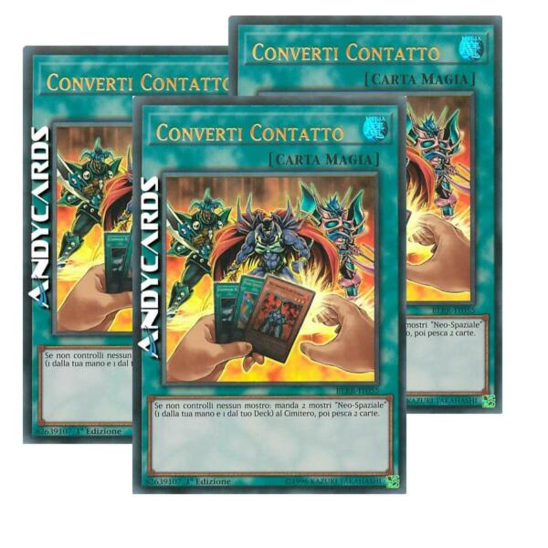 2x CONVERTI CONTATTO / CONVERT CONTACT • Ultra Rara • BLRR IT055 • YUGIOH!