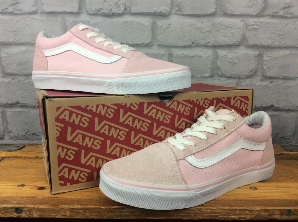 75ad8a97f9e5 Details about VANS UK 5 EU 38 PASTEL PINK OLD SKOOL SUEDE TRAINERS  CHILDRENS