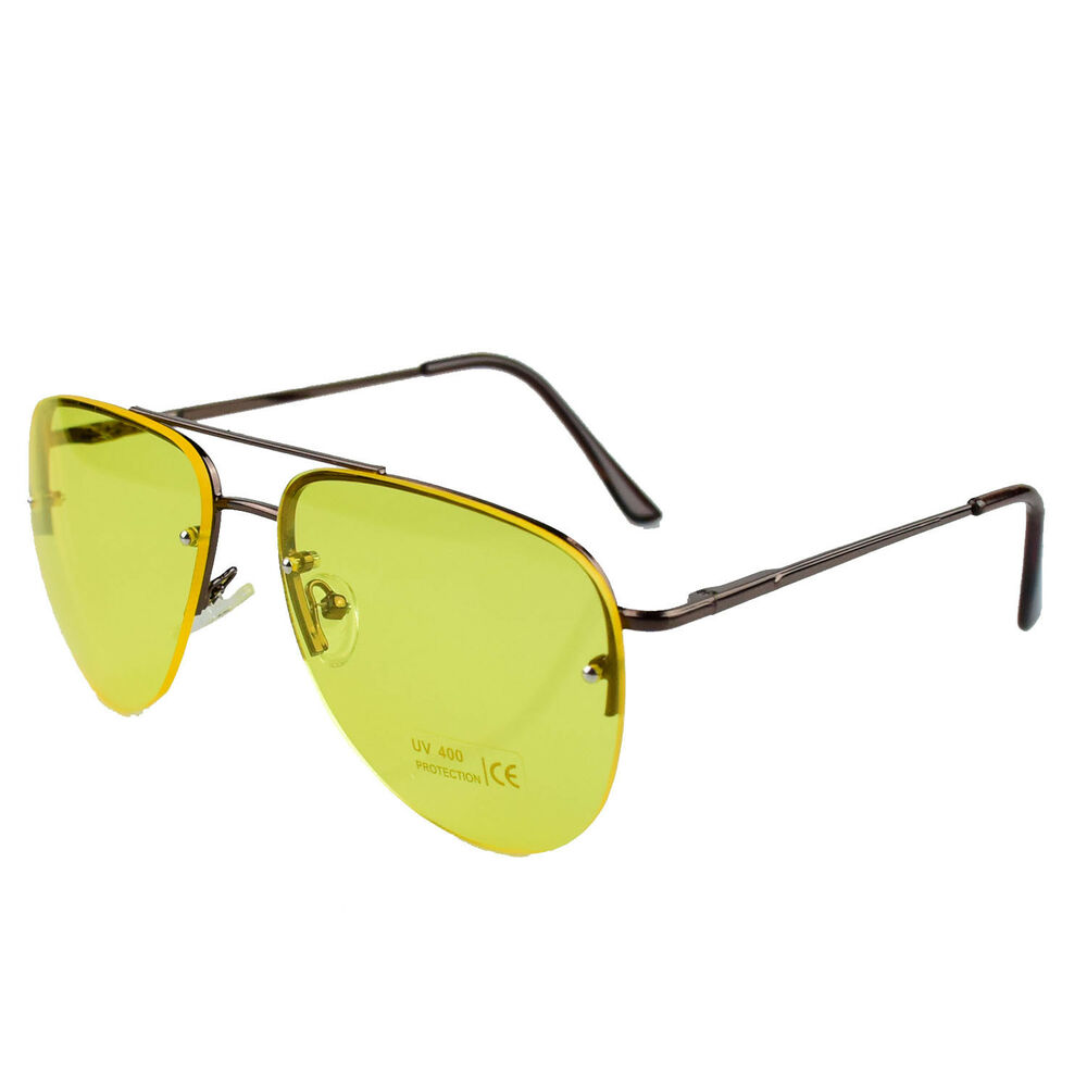 8a13134eab Details about Night Driving Glasses HD Anti Glare Vision Polarized Yellow  Lens Tinted Unisex