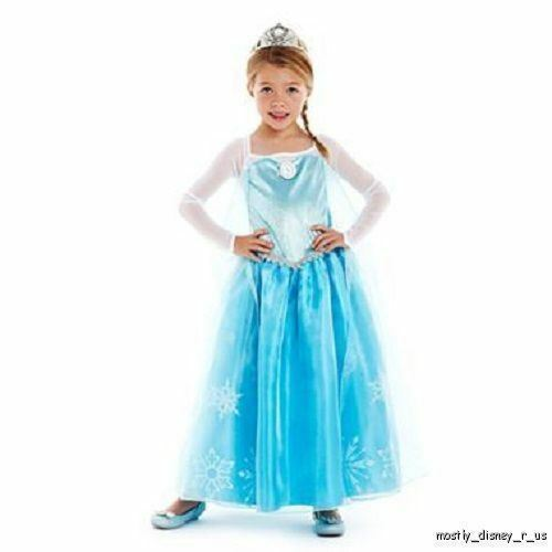 new-disney-jcp-frozen-princess-elsa-costume-gown-dress-girls-blue-23910