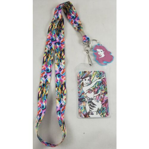 loungefly-disney-the-little-mermaid-ariel-rainbow-watercolor-id-lanyard-w-charm