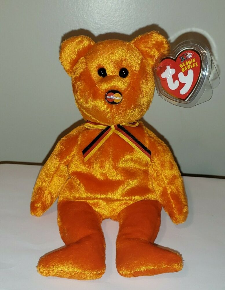 c9ab443bf59 Details about Ty Beanie Baby - MC III (3) MASTERCARD the Bear (Credit Card  Exclusive) ~ MWMT