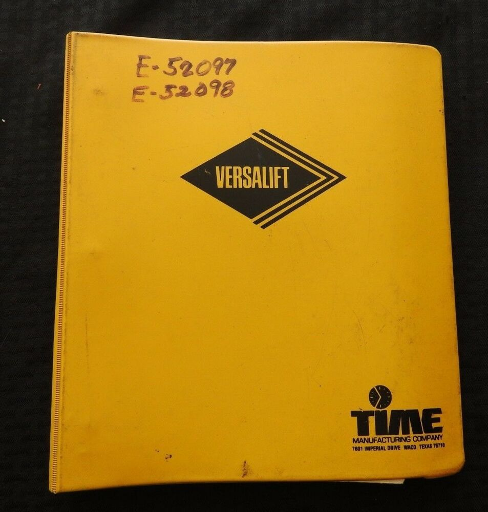 Versalift Parts Manual Wiring Diagram Vo Extending Boom Lift Truck Service Operation Ebay 953x1000