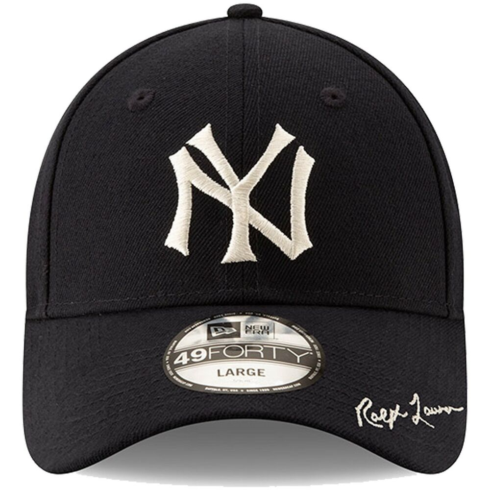 7f5e5ce8e2f Details about Men s New York Yankees New Era Navy Polo Ralph Lauren 49FORTY  Fitted Hat Cap LTD