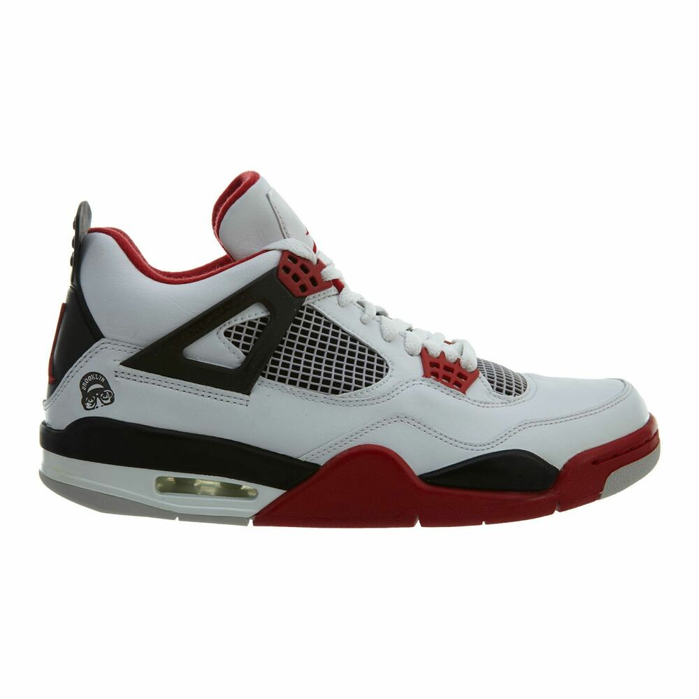 quality design 48b72 3f48c Details about Air Jordan 4 Retro Mars Blackmon Mens 308497-162 White Red  Black Shoes Size 8